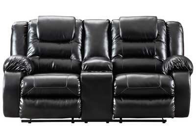 Image for Vacherie Black Double Reclining Loveseat w/Console
