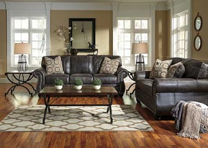 Breville Charcoal Sofa, Loveseat & Recliner