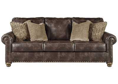 Nicorvo Coffee PU Leather Sofa