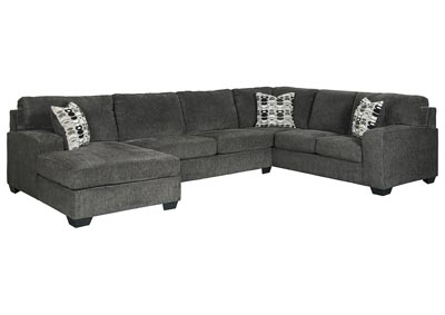 Ballinasloe Smoke LAF Chaise Sectional