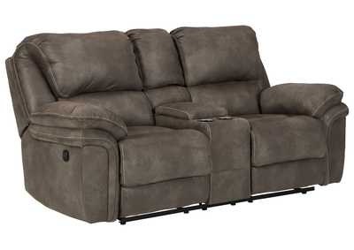 Trementon Graphite Reclining Loveseat with Console