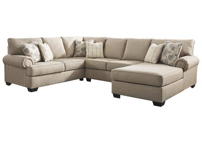 Baceno Hemp 3-Piece Sectional with Chaise