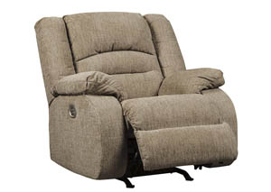 Labarre Mocha Power Recliner w/Adjustable Headrest
