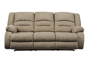 Labarre Mocha Power Reclining Sofa w/Adjustable Headrest