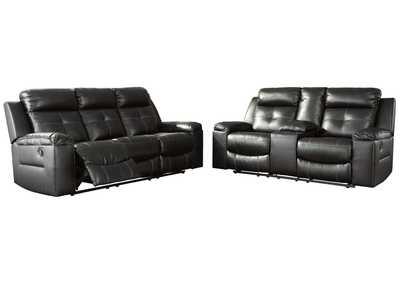 Image for Kempten Black Recliner Sofa & Loveseat Sectional