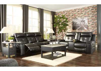 Kempten Black Reclining Sofa,Signature Design By Ashley