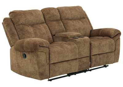 Image for Huddle-Up Nutmeg Reclining Loveseat with Console