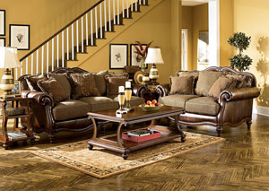 Claremore Antique Sofa & Loveseat