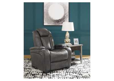 Turbulance Quarry Leather Rocker Recliner