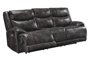 Brinlack Gray Power Reclining Sofa
