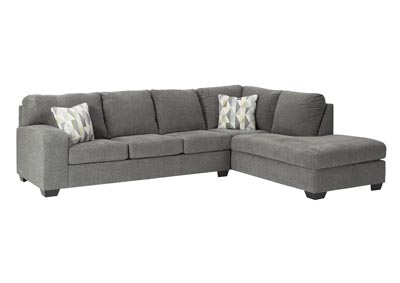Image for Dalhart Charcoal Right-Arm Facing Chaise End Sofa