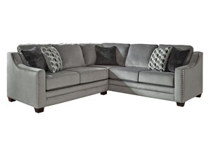 Bicknell Charcoal Left Facing Loveseat Sofa Sectional