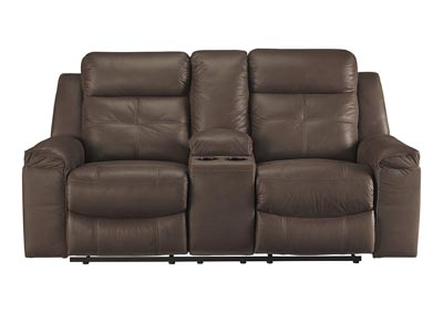 Jesolo Coffee Double Reclining Loveseat w/Console