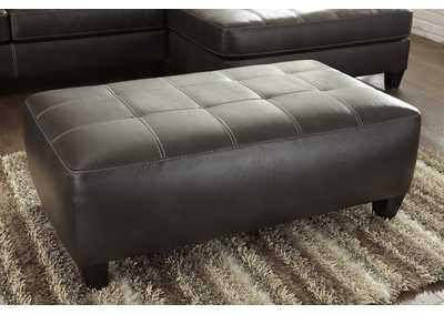 Nokomis Charcoal Oversized Accent Ottoman,Signature Design By Ashley
