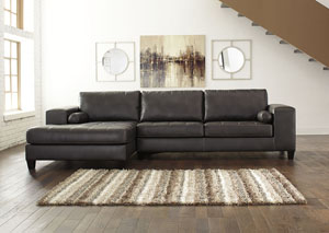 Nokomis Charcoal Left Facing Corner Chaise Sectional