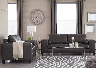 Nokomis Charcoal Sofa and Loveseat