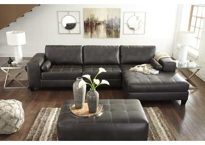 Nokomis Charcoal Right Facing Corner Chaise Sectional,Signature Design By Ashley