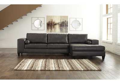 Nokomis Charcoal RAF Corner Chaise Sectional