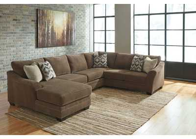 Justyna Teak LAF Chaise Sectional