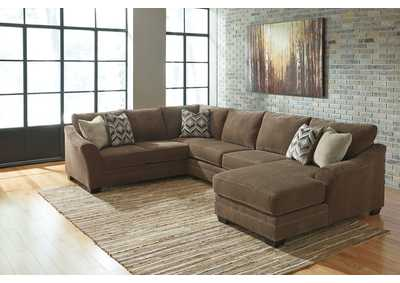 Justyna Teak Sectional w/Right Facing Corner Chaise
