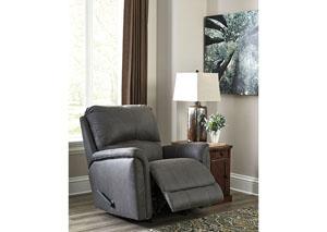 Oak Furniture Liquidators Ranika Gray Rocker Recliner