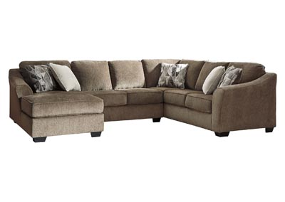 Graftin Teak Left-Arm Facing Chaise Sectional