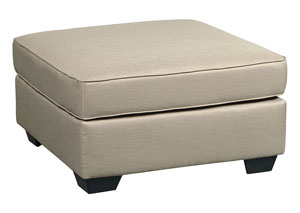 Calicho Ecru Oversized Accent Ottoman