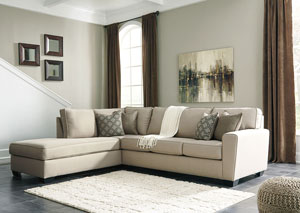 Calicho Ecru Left Facing Corner Chaise Sofa Sectional