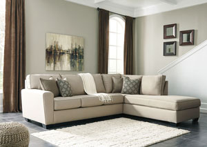 Calicho Ecru Right Facing Corner Chaise Sofa Sectional