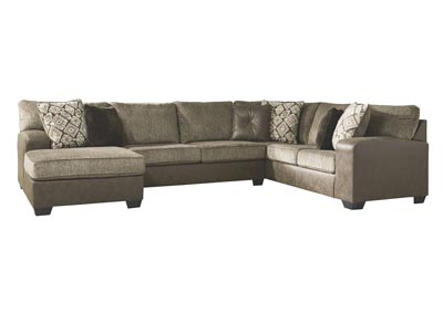 Abalone Chocolate Right-Arm Facing Chaise Sectional