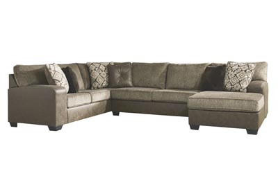 Abalone Chocolate Left-Arm Facing Chaise Sectional
