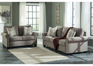 Gilman Charcoal Sofa and Loveseat