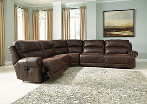 Luttrell Espresso Zero Wall Power Reclining Sectional