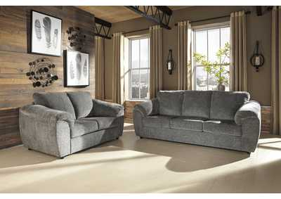 Azaline Slate Sofa and Loveseat
