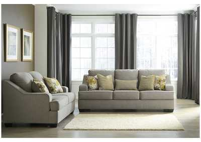 Mandee Pewter Sofa and Loveseat