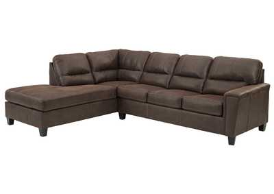Image for Navi Chestnut Left-Arm Facing Sofa Chaise