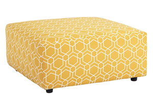 Ayanna Nuvella Gold Oversized Accent Ottoman