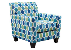 Ayanna Nuvella Turquoise Accent Chair