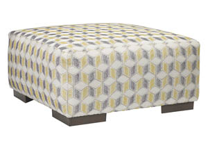 Fallsworth Smoke Oversized Accent Ottoman