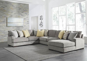 Fallsworth Smoke Left Facing Loveseat Sectional