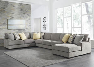 Fallsworth Smoke Right Facing Sofa Sectional