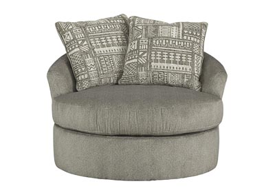 Soletren Ash Swivel Accent Chair w/2 Pillows