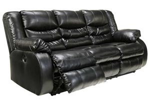 Linebacker DuraBlend® Black Reclining Sofa