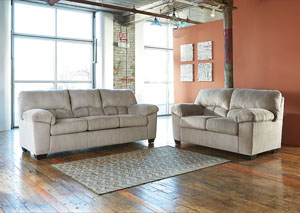 Dailey Alloy Sofa and Loveseat