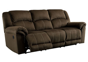 Quinnlyn Coffee Reclining Sofa