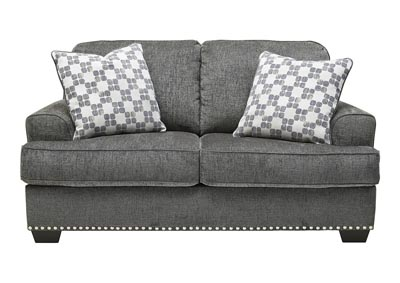 Locklin Carbon Loveseat w/2 Pillows