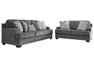Locklin Carbon Sofa & Loveseat w/7 Pillows