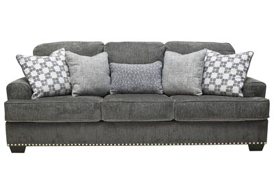 Locklin Carbon Sofa w/5 Pillows