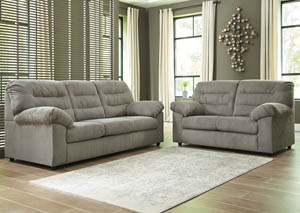 Gosnell Gray Sofa & Loveseat
