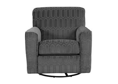 Zarina Graphite Swivel Accent Chair